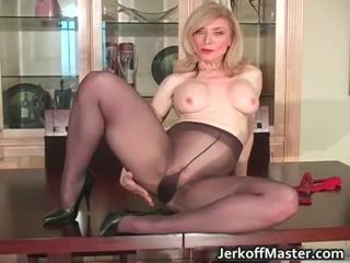Legs Mature Mom Pantyhose Solo
