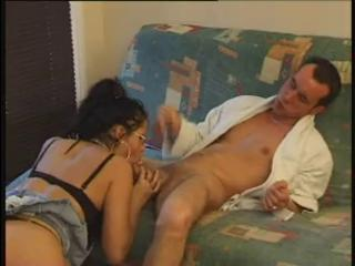 FRENCH CASTING n19 brunette babe with glasses