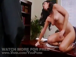 Brunette Forced To Strip And Gag...