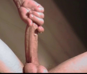 chick handjob's huge cock with stroking perfection pt 2