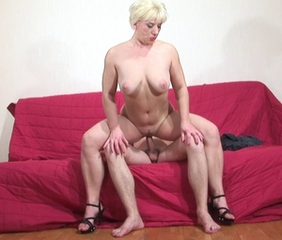 Chubby Mature Mom Natural Old and Young Riding Russian