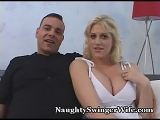 Busty blonde banged by buddy  free