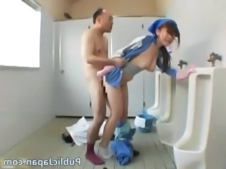 Asian Cute Maid Old and Young Toilet Uniform