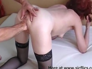 My horny wife loves to have her huge cunt fisted till she orgasms