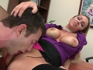 Big Tits Licking  Office Secretary