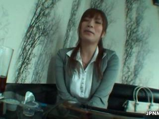 Sexy Asian office worker milf Sex Tubes