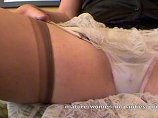 Full Cut Panty Upskirts With Wet Spots In Gusset