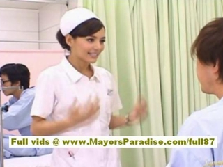 Rio Hot Asian nurse gets naked increased by playing