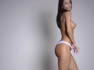 titty babe dancing by the wall