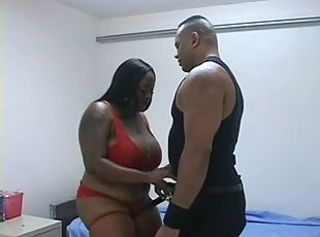 Big Tits Ebony Interracial Lingerie