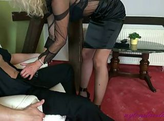 More footjob strict Mature Mom Office Lady in extreme Heels