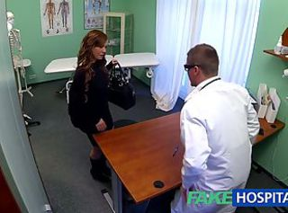 FakeHospital Teen model cums for tattoo removal doctor enjoys himse...