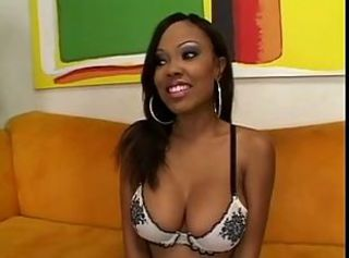 Amazing Big Tits Cute Ebony Lingerie  Pornstar