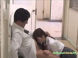 Jap Schoolgirl Riding On her Teacher Cock