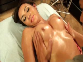 Massage  Oiled Pornstar