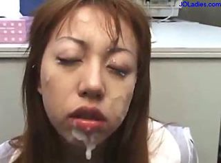 Asian Cumshot Facial Office Secretary