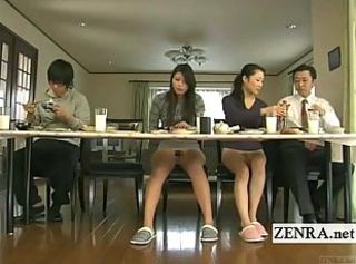 Subtitled bizarre Japanese bottomless no panties house