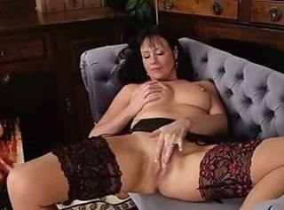 Masturbating  Mom Stockings