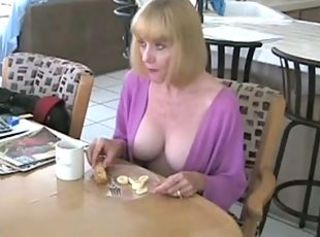 Big Tits Kitchen Mature Mom Old and Young