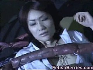 Asian Cum Covered by Tentacles!