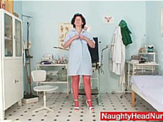 Doctor Mature Stockings Uniform