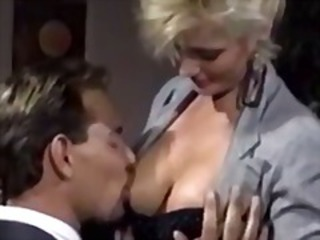 Blonde is lucky to get hard fuck