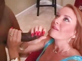 Mature amateur wife interracial cuckold handjob