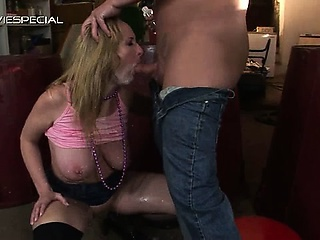 Mature MILF gets all her holes filled