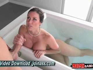 Bathroom  Handjob  Mom