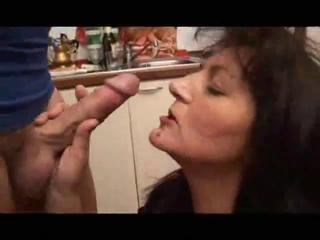 Blowjob European Italian Kitchen Mature