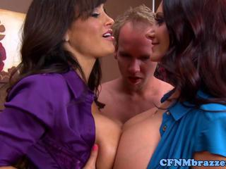 "Busty cfnm flashing milfs seduce dude"" class=""th-mov"