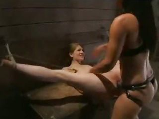 Bound babe flogged and strapon dildo fucked Sex Tubes