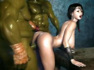 3d Animated Girl Fuck Orcs
