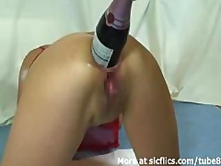 Champagne Bottle Ass Fuck And Fisting