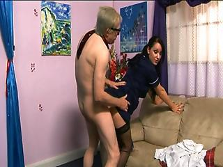 Cfnm Female Domination Demands Bonking From Aged Guy