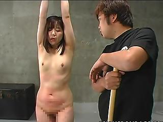 Japanese Dolls Is Bound Up And Caned Big