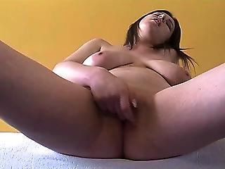 Chubby Close up Masturbating Orgasm SaggyTits Solo Teen Webcam