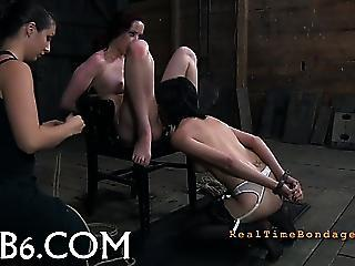 Intense Caning For Worthless Babe