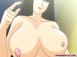 Japanese bigboobs hentai coed gets licked her