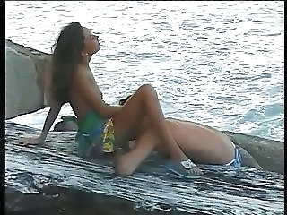 Babe Beach Licking Outdoor