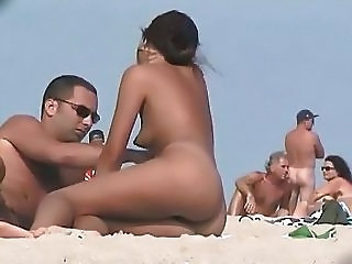 Beach Girlfriend Nudist Outdoor Public Voyeur