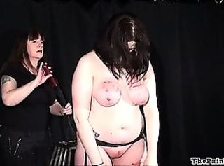 Amateur bdsm and extreme lesbian domination of chubby slave explicit in...