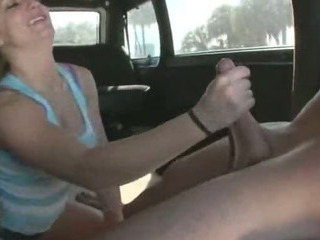 Blonde chick gets in car with strangers