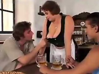 Big Tits Drunk Maid Mature Mom Natural Old and Young Threesome Uniform Vintage