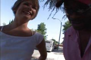 Interracial Outdoor Public Teen