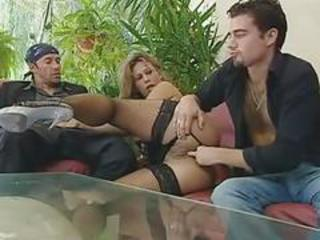 European Fisting Italian  Stockings Threesome