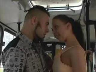 Asian Bus Interracial Public Teen