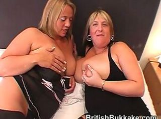 Large boobed housewives drain several cocks