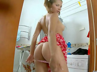 Amazing Ass Bathroom Stripper Teen
