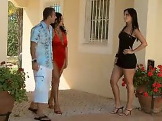 Amazing  Outdoor Pornstar Threesome